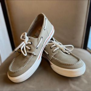 Sperry Top-Sider Shoes Bahama Khaki Size 1.5